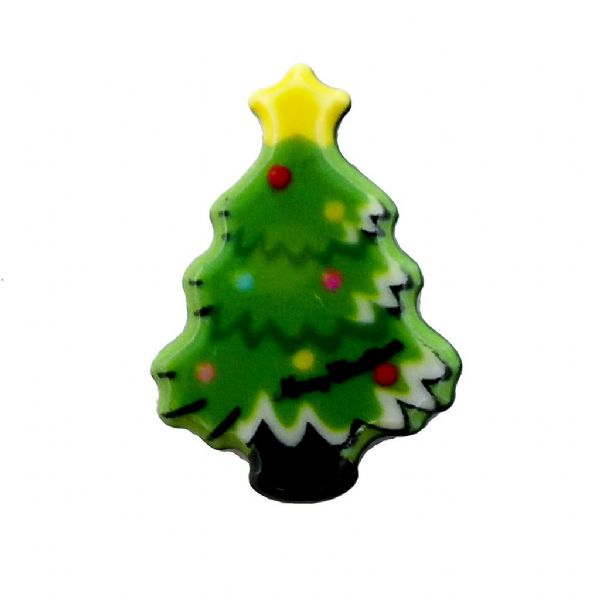 Christmas Tree Acrylic Flat Back Christmas Charm 11mm x 16mm